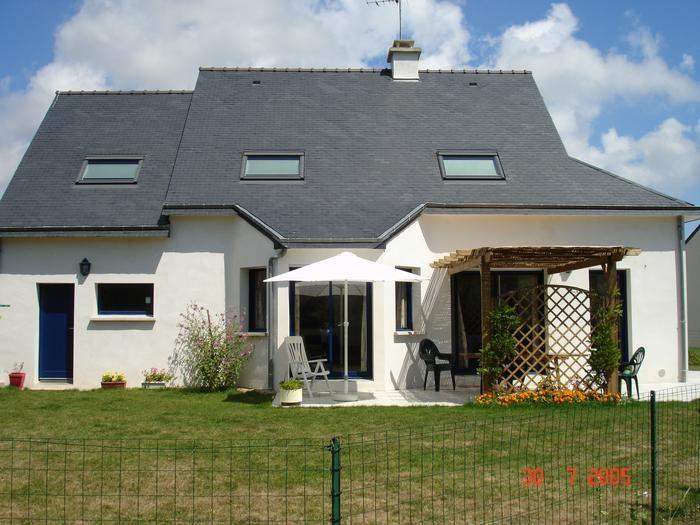 Maison Façade Sud-Ouest avec la terrasse ombragée