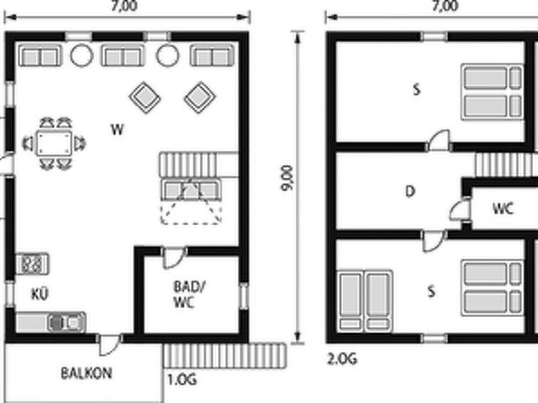 Maison pour 6 à Risnes