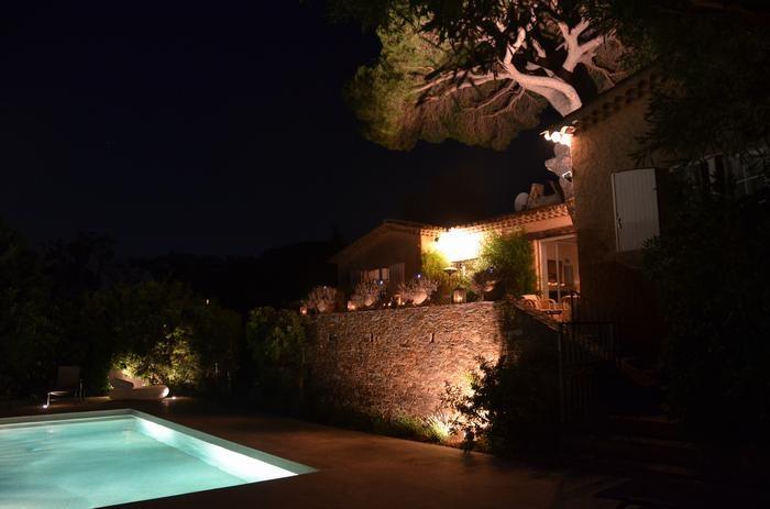 Notre villa, le soir