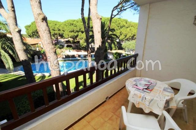 Location vacances l'Escala -  Appartement - 2 personnes - Salon de jardin - Photo N° 1