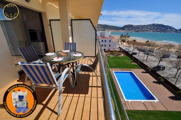 Location vacances Rosas -  Appartement - 7 personnes - Câble / satellite - Photo N° 1