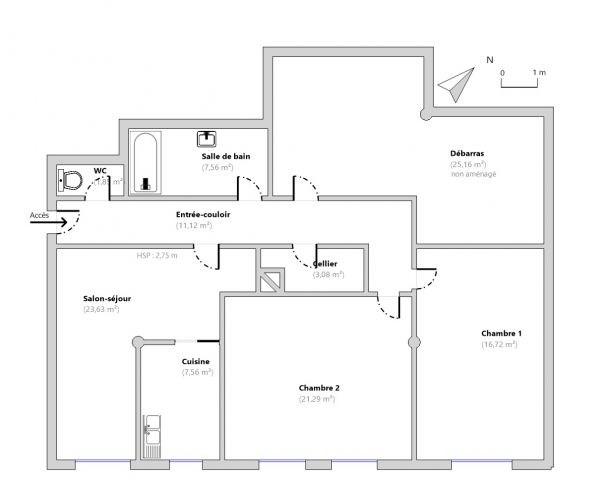 plan appartement vierge