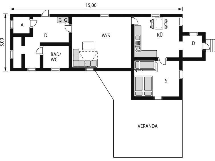 Maison pour 4 à Rönninge