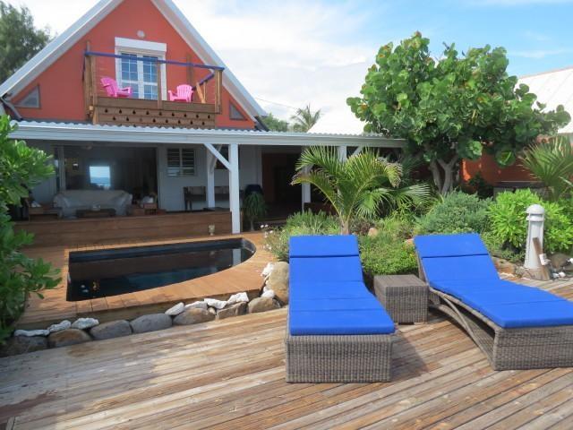 Villa Perle de Corail, vue sur lagon et plage