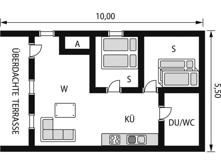 Appartement pour 5 à Uggdal