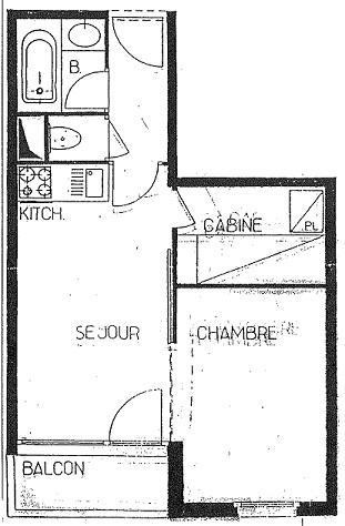 Studio cabine 3 personnes (214)