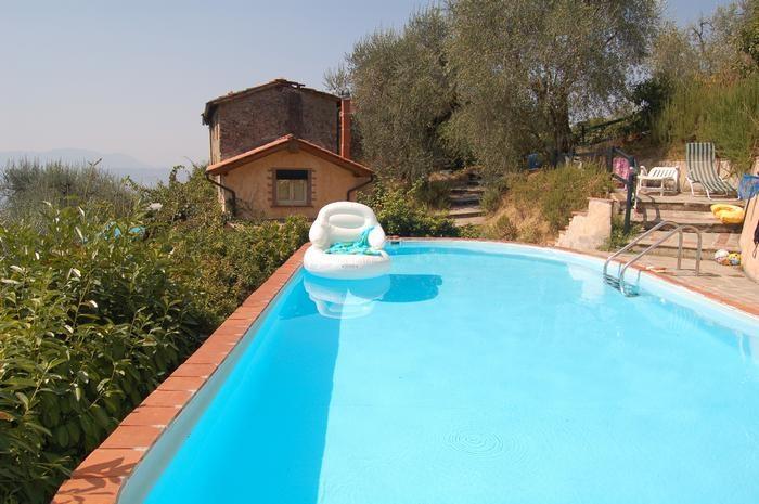 pool and house vieux panoramic