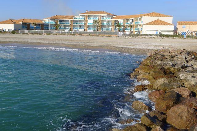 Résidence vue de la plage