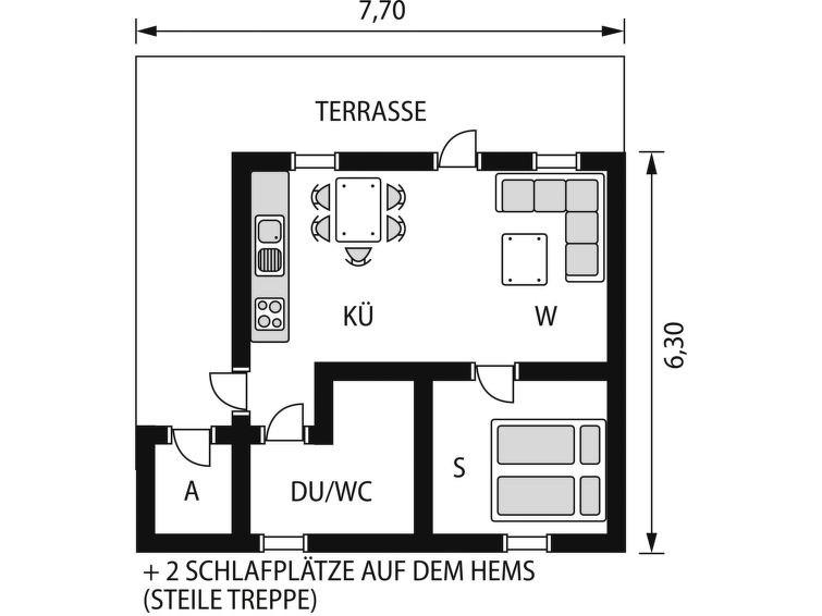 Maison pour 4 à Sørbøvåg