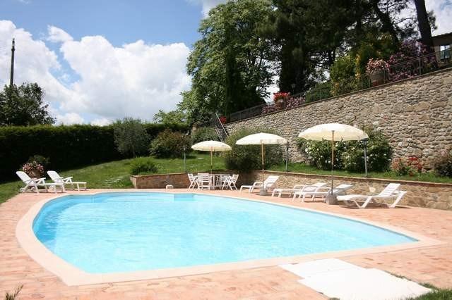Toscane, Monte San Savino, belle villa piscine privée 10 personnes, vue panoramique