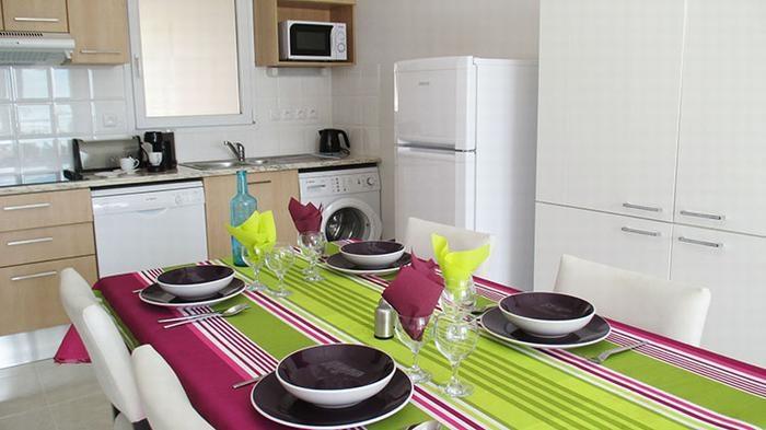 La cuisine et l'espace à manger