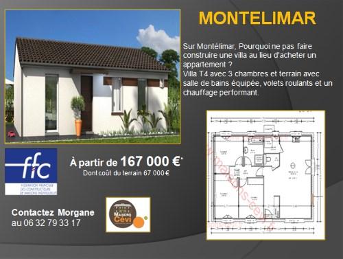 Maison  4 pièces + Terrain 348 m² Montélimar par MAISONS CEVI 26