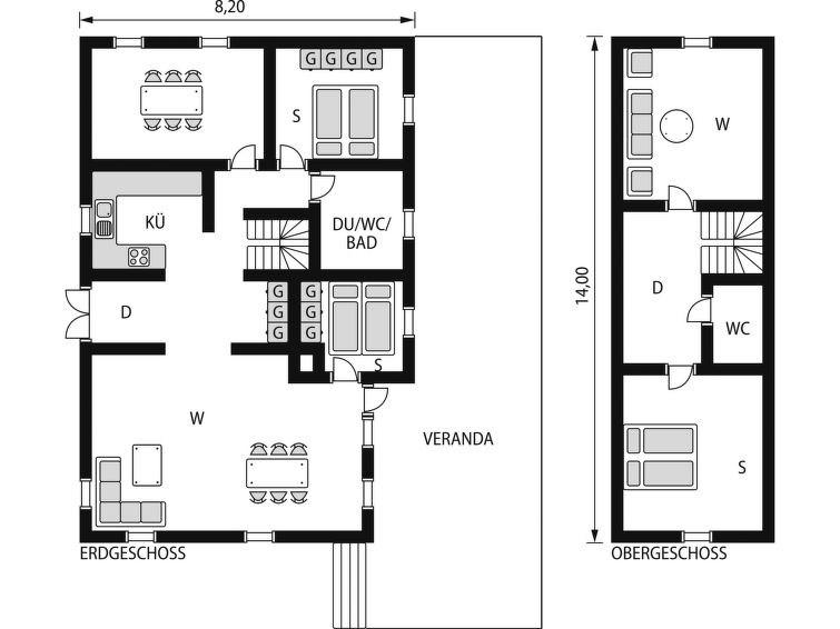 Maison pour 6 à Ås