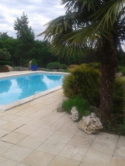 coté piscine  vue sur forêt