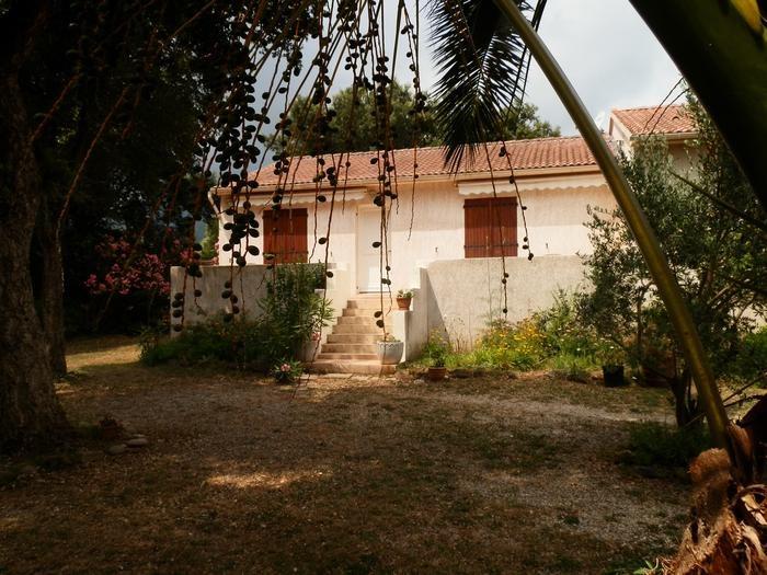 La maison et son jardin ombragé et spacieux