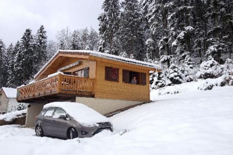 """Chalet """"l'orée du bois"""" au coeur des Vosges Sauna , douche double ,Hammam , Wifi"""