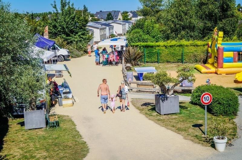 Camping de L'Ile Verte, 40 emplacements, 24 locatifs