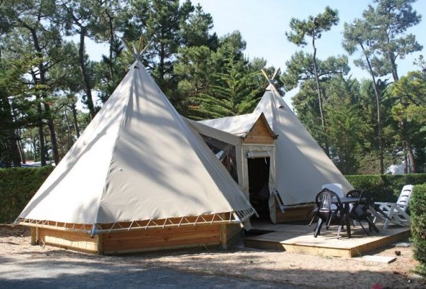 -15 % Location tipis insolite 4 à 6 p. Camping 4* à St Hilaire de Riez (85) avec piscine chauffée et à 800m des plages