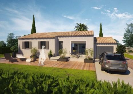 Maison  5 pièces + Terrain 900 m² Saint Victor la Coste par ART ET TRADITIONS MEDITERRANEE