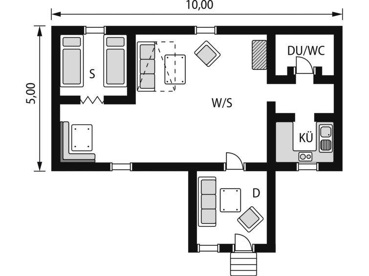 Maison pour 4 à Jälluntofta