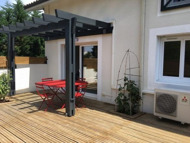 BISCARROSSE BOURG - Beau duplex avec terrasse, centre ville