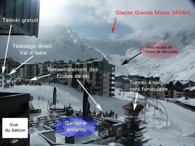 Studio Tignes Val Claret, sud, ski aux pieds, 4p