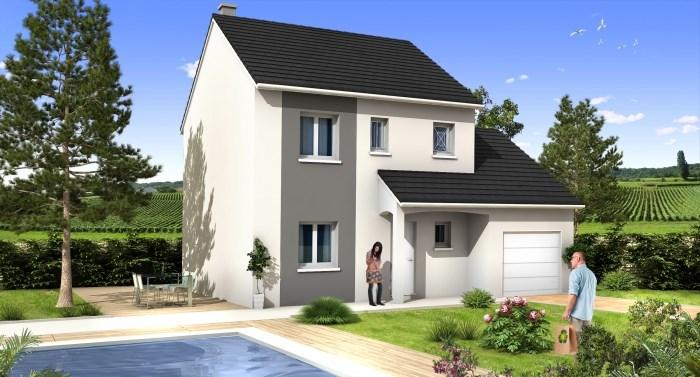 """Modèle de maison  """"Intemporel notre modèle ROMARIN à partir de 85 m²"""" à partir de 5 pièces Saône-et-Loire par MAISONS D'EN FRANCE CHARNAY LES MACON"""