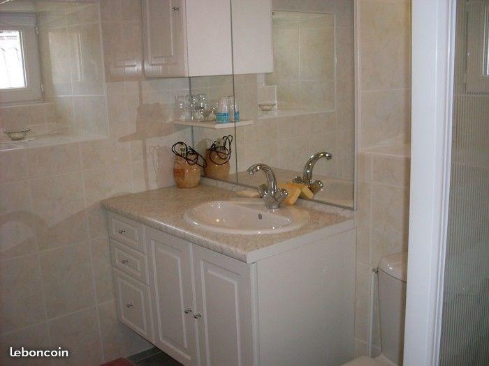 la salle de bain avec douche/cabine