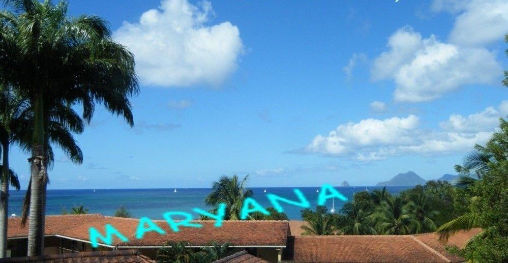 Vue depuis la terrasse sur Anse Caritan