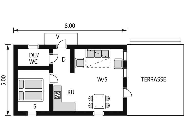 Maison pour 4 à Bromölla