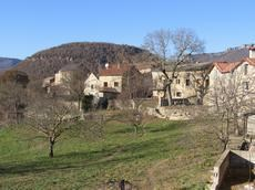 St Michel, the hamlet. The house is on the right h