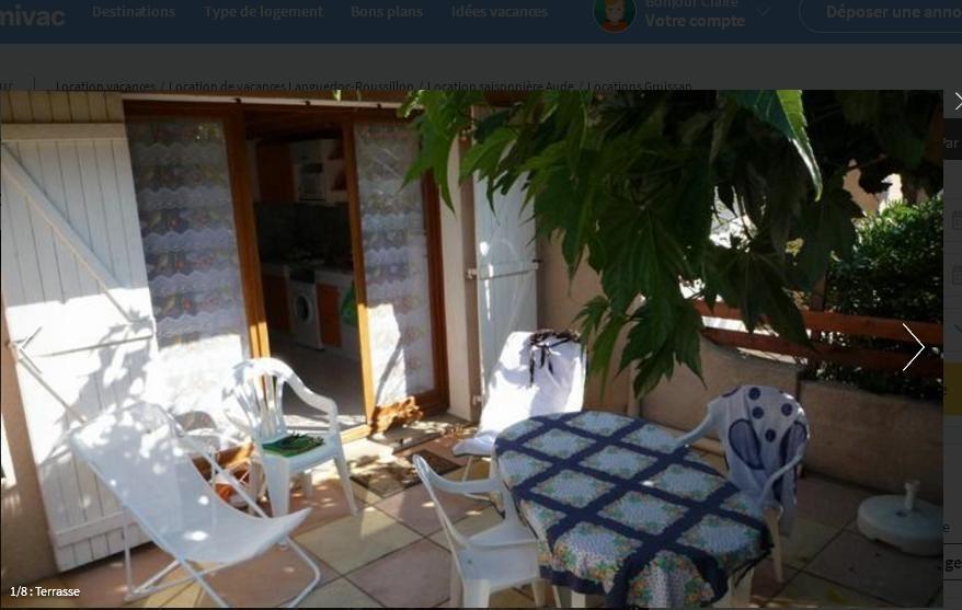 Location Mini-villa pour 5 personne(s) - Gruissan
