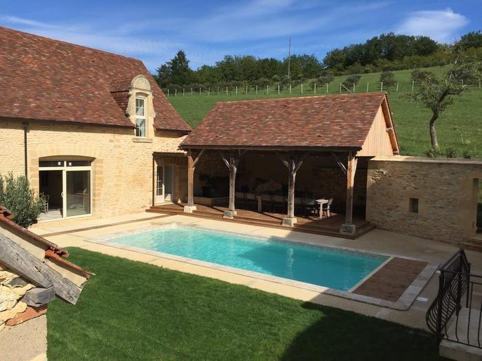 Ferme pour 12 pers. avec piscine privée, Plazac