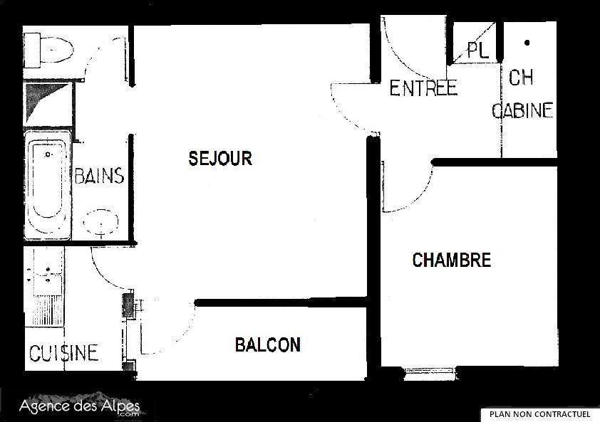 Appartement 2 pièces 4 personnes (B76)