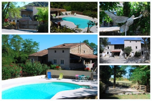 Holiday rentals Grospierres - Cottage - 20 persons - BBQ - Photo N° 1