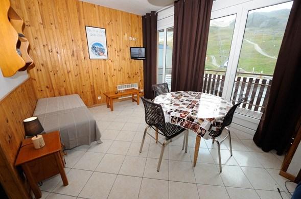 Studio - 28 m² - 3 personnes - catégorie 2 - balcon - vue sur pistes.