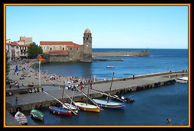 Collioure et son clocher peint par tous les grands peintres ,à 28 km.
