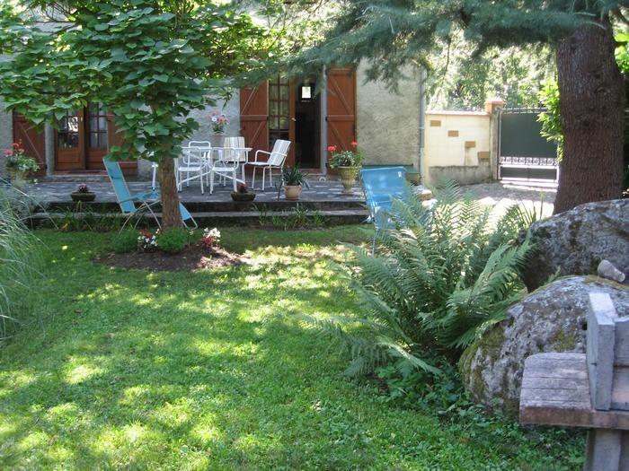 Vue terrasse et jardin privé