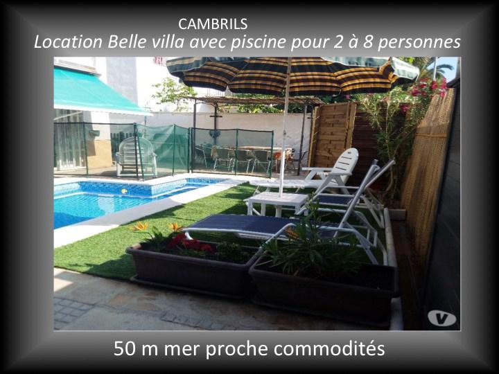 Esp.Cambrils Belle villa piscine 8/10 pers. 50mMer