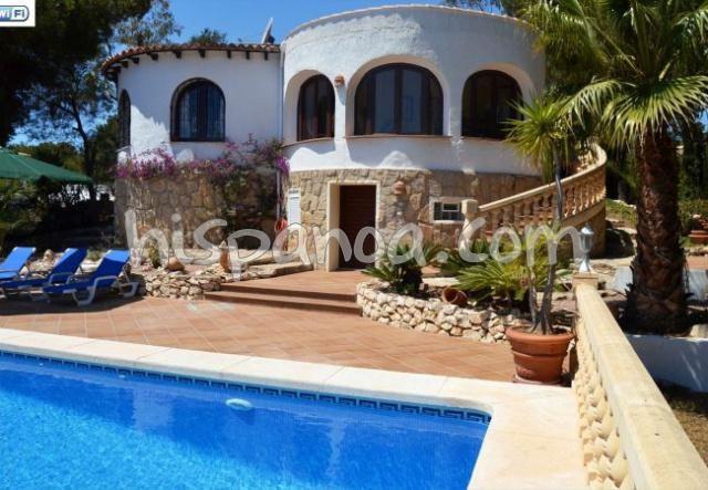 Location d'une villa à Javea avec piscine et belle vue mer  we5091