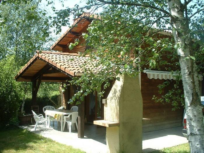 Terrasse couverte - barbecue