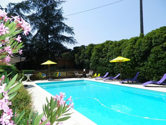 Private heated saltwater pool, terrace and spa