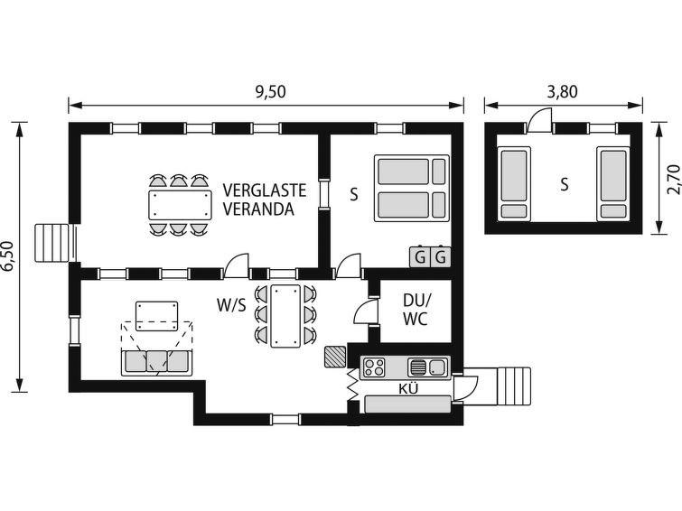 Maison pour 6 à Kopparberg