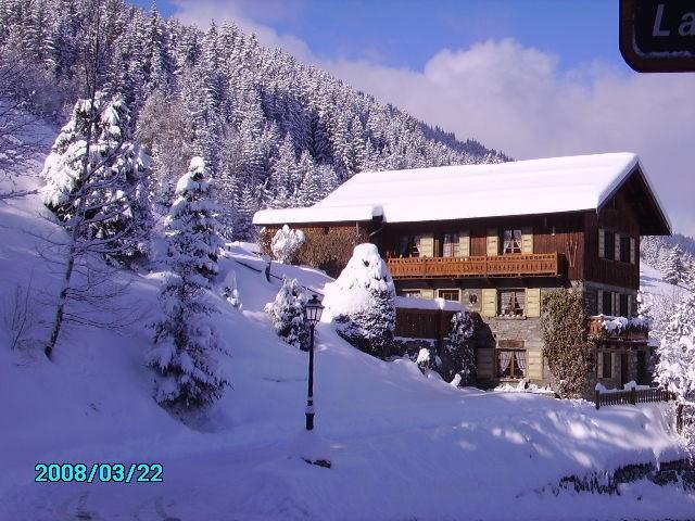 Chalet façade Est hiver