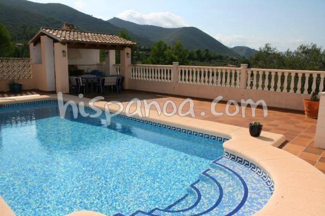 Location villa Costa Blanca proche de Jalon avec grande piscine |ash