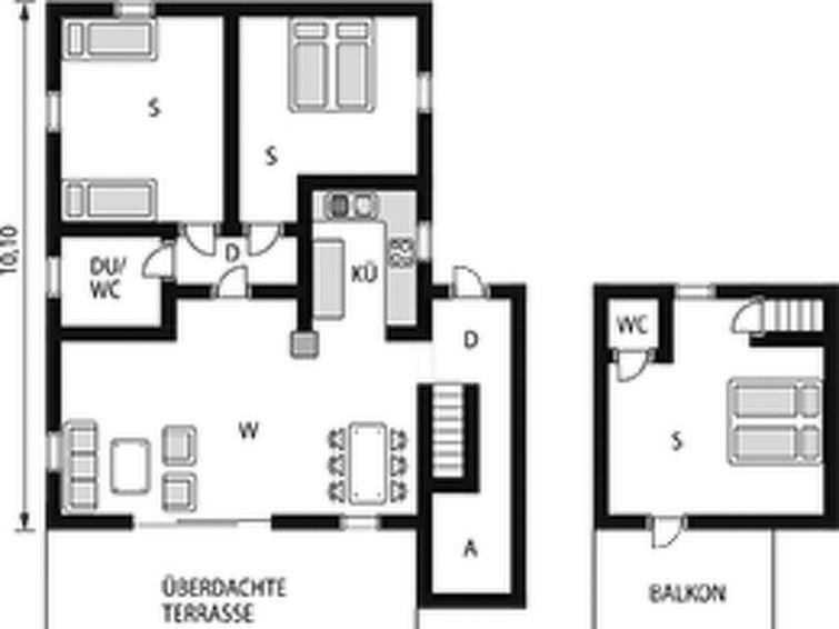 Maison pour 6 à Balestrand