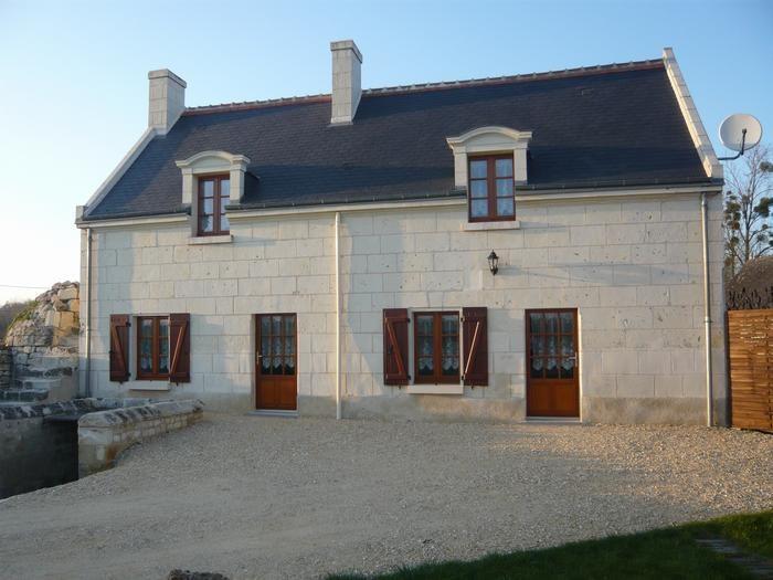 im Jahre 2009 erneuertes Haus des Lands in Touraine