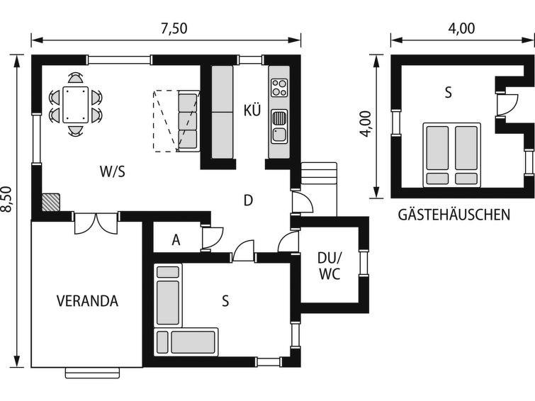 Maison pour 6 à Oskarström