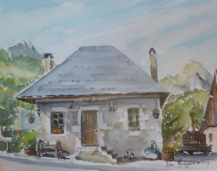 La maison croquée par un aquareliste