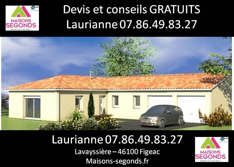 Maison  5 pièces + Terrain 1165 m² Camboulit par MAISONS SEGONDS